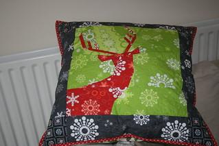 Not so Spring deer cushion