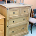 Waxed pine 2+2 chest of drawers