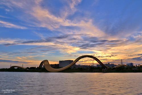 sunset 南科迎曦湖