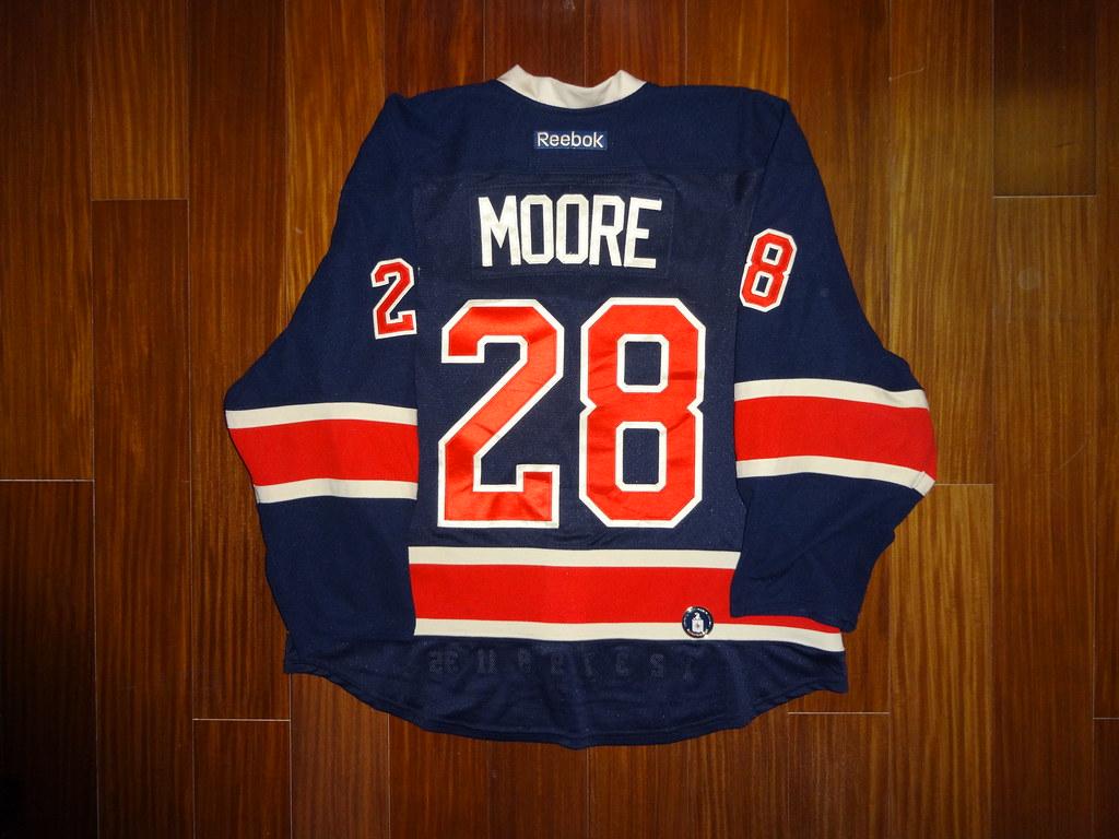 new style 31e34 2f5ba Game Worn Reebok Edge 2.0 Dominic Moore New York Rangers 2 ...