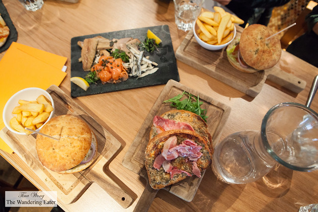 Some of our lunch at Ffresh Bar at Millenium Centre