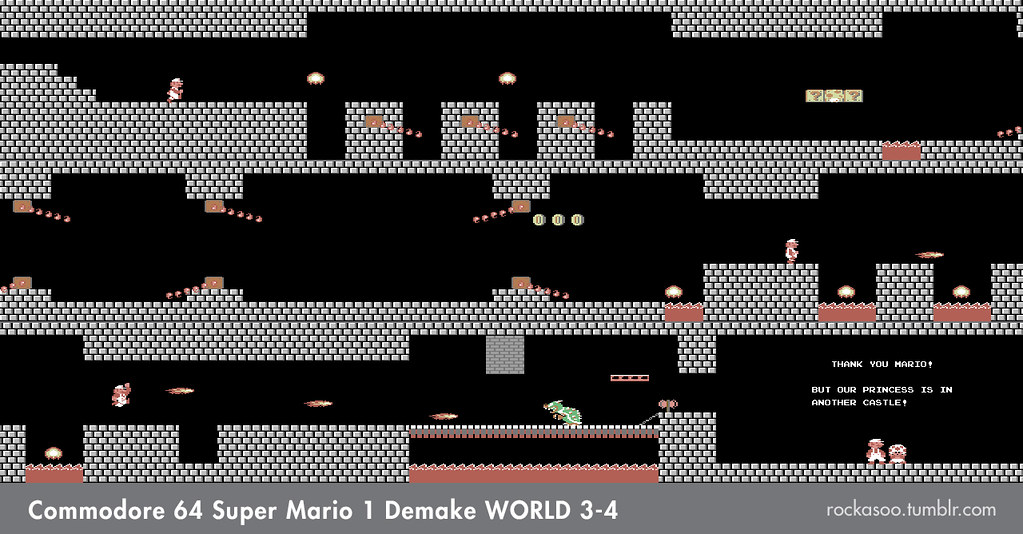 Super Mario Bros  C64 Demake | Various assets for Super Mari