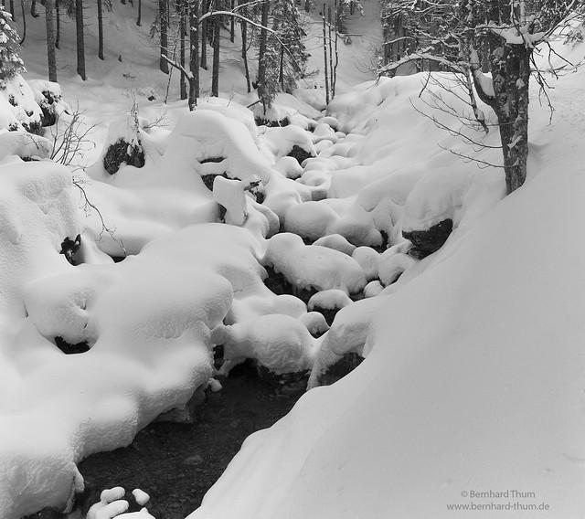 Rissbach in winter