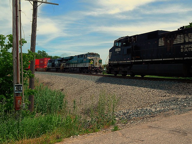 Southern and NS meet near Claypool Indiana