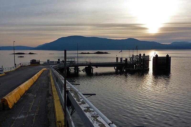 Vesuvius Ferry Terminal at Sunset, Vesuvius, Saltspring Island, Gulf Islands, British Columbia