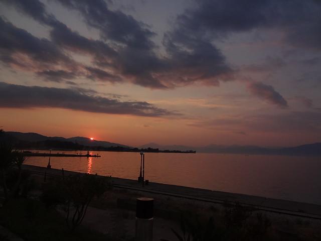 sunset Aigio Achaia Greece DSC06347