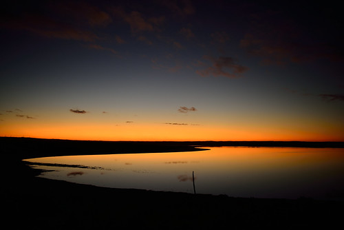 travel pink sunset lake night landscape twilight westernaustralia esperance