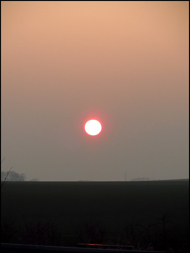 sunset sky sun germany landscape europe foggy february journeys geo:country=germany kostolany244 canonixus500hs day47 365the2015edition 3652015 journeys2015 1622015