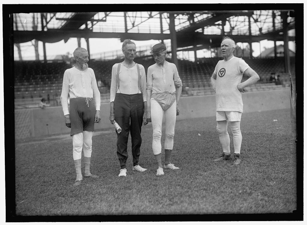 Partially identified! [Group of men, Griffith Stadium, Washington, D.C.]