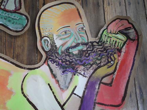 """man combing beard"" | by stephenbrunelli"