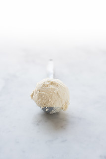 Vanilla Cranberry Ice Cream Sundaes with Crispy Gingersnap Cookies and Bourbon Whipped Cream www.PineappleandCoconut.com | by PineappleAndCoconut