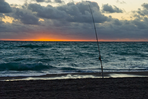 beach sunrise fishing unitedstates florida january fav20 pole fav30 fishingpole orangeandblue daniabeach fav10