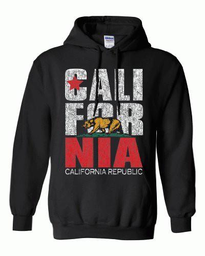 Green Turtle - California Republic Design Hooded Sweatshirt(large)