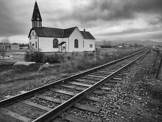 2014/365/40 The Old Church Down By The Railroad Tracks | by cogdogblog