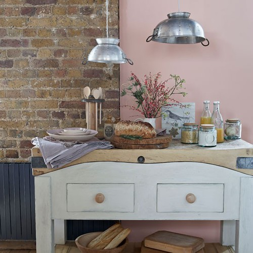 Buffet Table & Colander Lamps