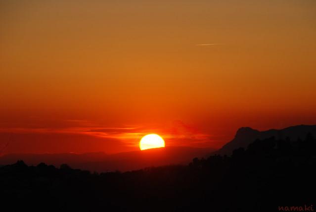 sunset from Casternou