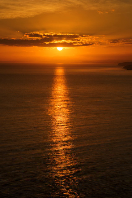 Sunset over Dorset