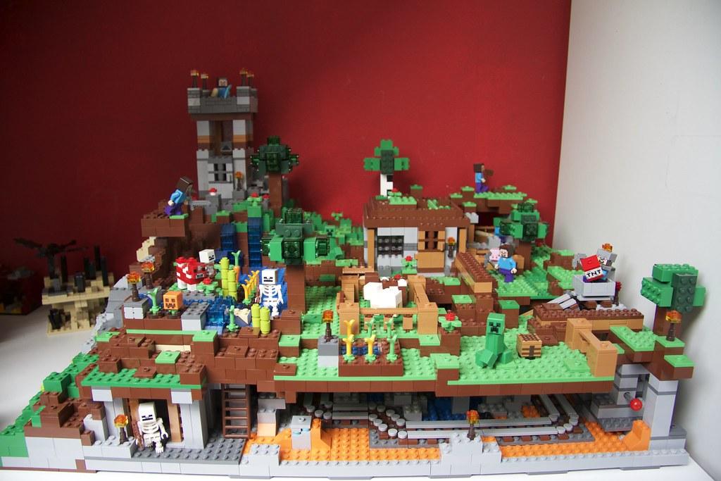 Lego Minecraft layout