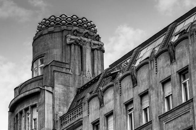 Czech Republic - Prague - Wenceslas Square (Vaclavske Námesti) - Building with communist aesthetic