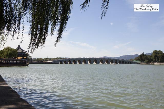 Seventeen-Arch Bridge (Shiqikong Qiao) at Summer Palace, Beijing, China