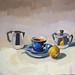 Afternoon tea, 40x40cm, Oil on linen