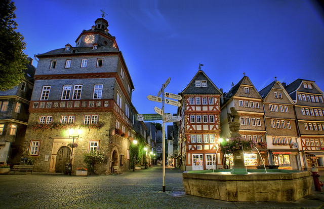 Herborn Market Place in Germany
