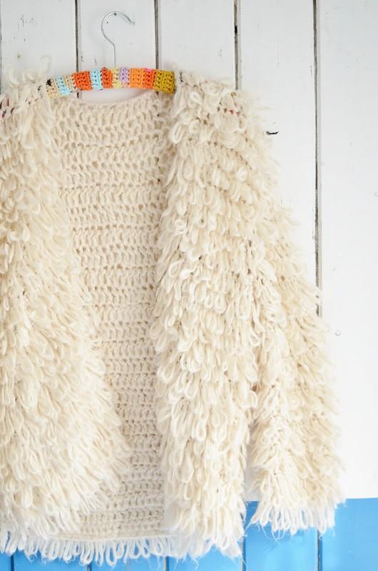 wood & woodwoolstool wooly cardigan