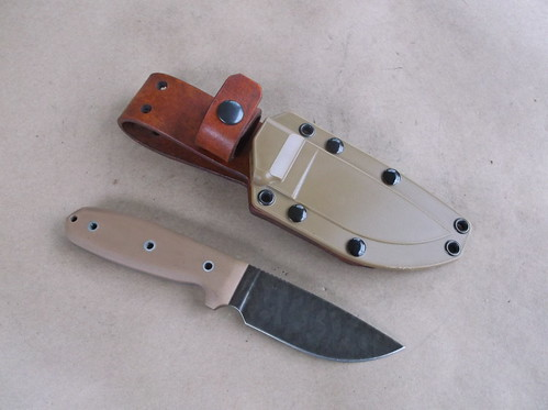 Leather belt loop backer for the stock ESEE 3 sheath
