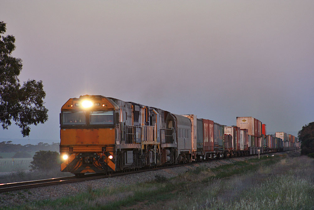 Intermodal at dusk by Bingley Hall