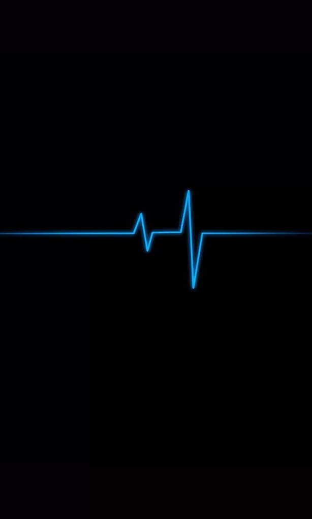 Phone Wallpaper Heartbeat Black Blue Hd Lumia Phone Wall