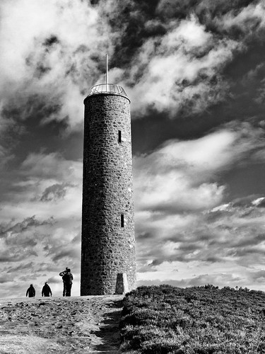 blackandwhite bw tower monument monochrome weather clouds canon scotland blackwhite day aberdeenshire cloudy banchory s100 scolty scoltyhill