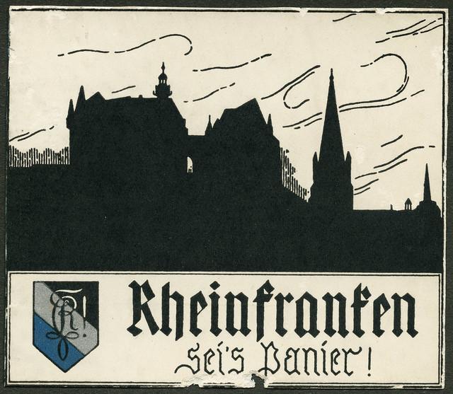 Archiv V003 Marburger Burschenschaft Rheinfranken, 1920er
