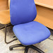 Blue swivel chair no arms