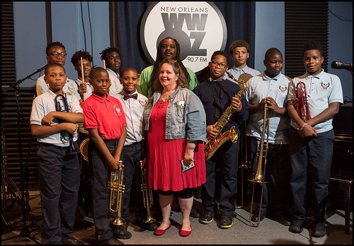 Eisenhower Academy Middle School Brass at Cuttin' Class on September 8, 2016. Photo by Ryan Hodgson-Rigsbee rhrphoto.com