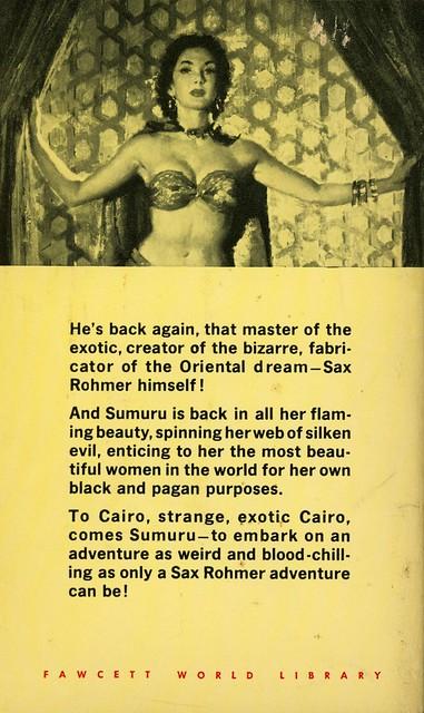 Gold Medal Books 868 - Sax Rohmer - Return of Sumuru (back)