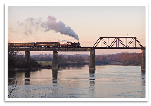 bridge sunset train tn knoxville locomotive baldwin steamengine 1925 lindy 280 holstonriver threeriversrambler washingtonlincolnton wl203