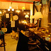 Large selection of vintage lamps and light fittings