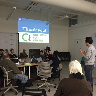 Thank you @@c4qNYC for hosting the first Queens civic #hacknight in NYC's history! #opendata & #civictech ACROSS THE CITY!