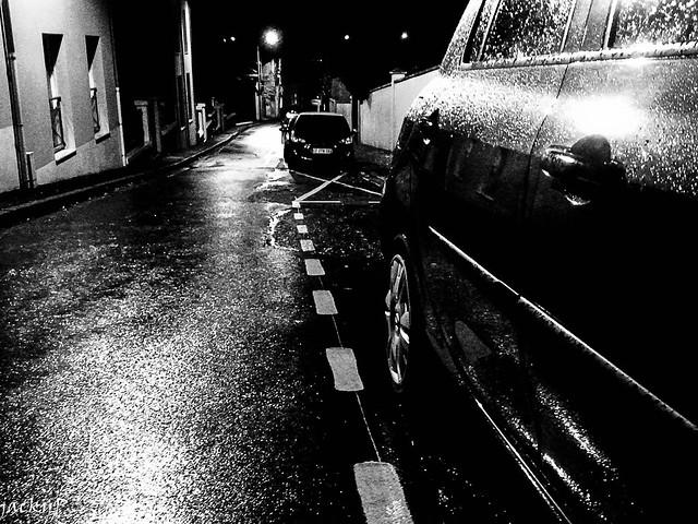 All cars are black, in the dark