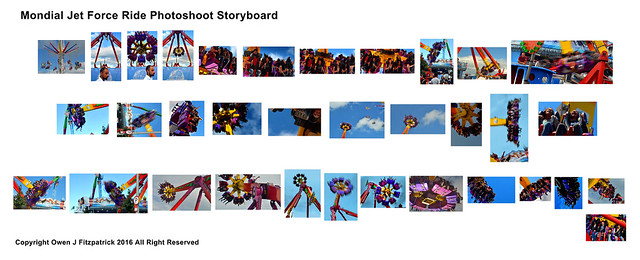 Mondial Jet Force Ride Photoshoot Storyboard