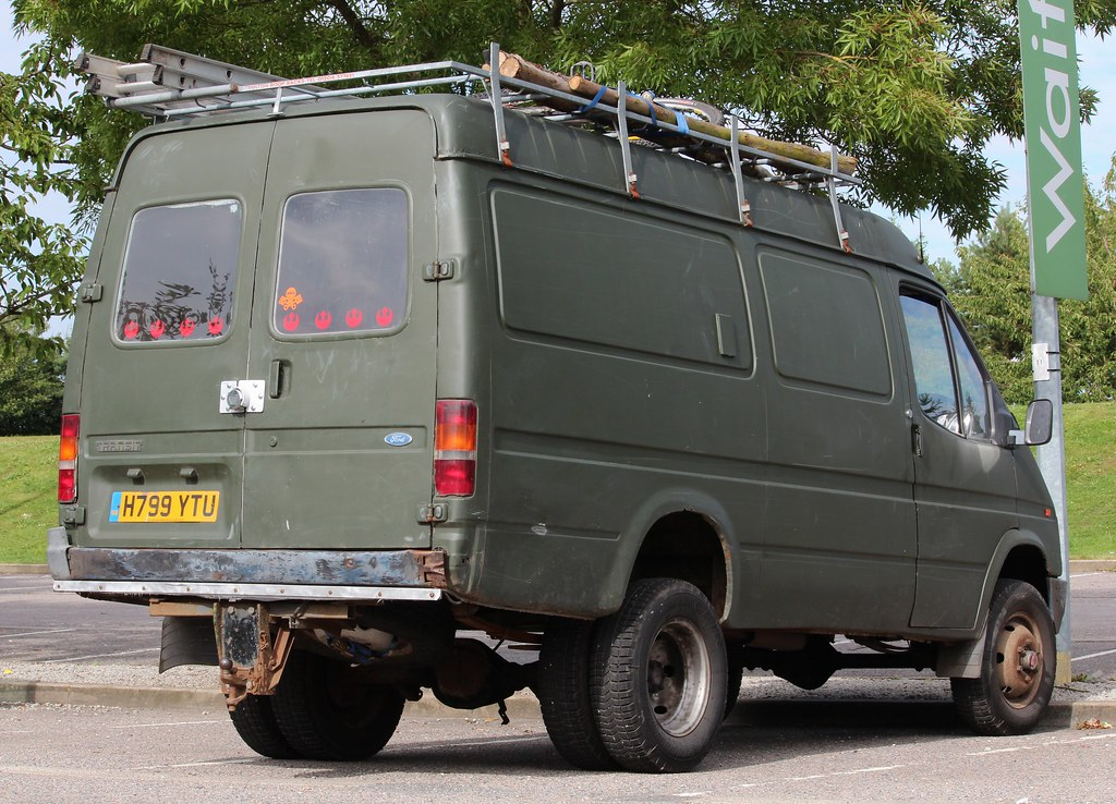 H799 Ytu 1991 Ford Transit 160 Van With County 4x4 Convers Flickr