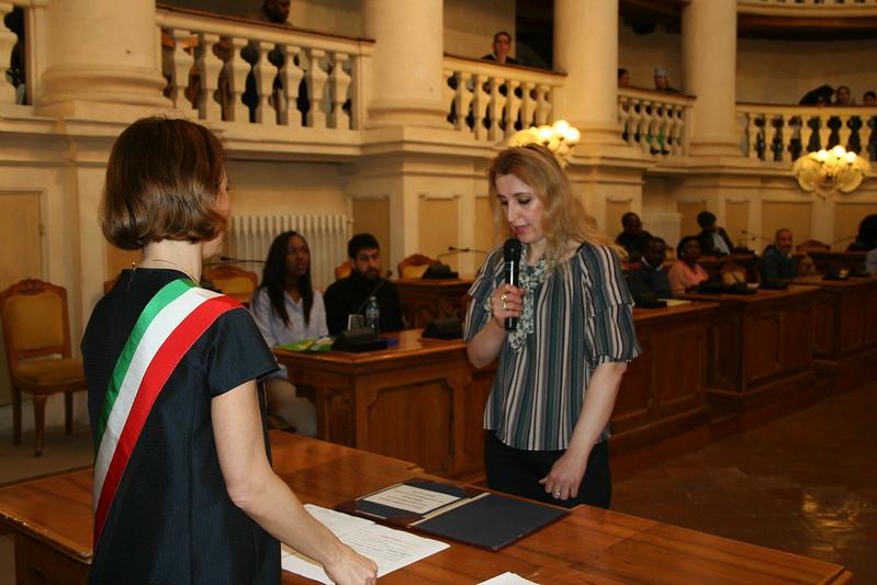 Giuramento Cittadinanza sig.ra Morina Hyrmete