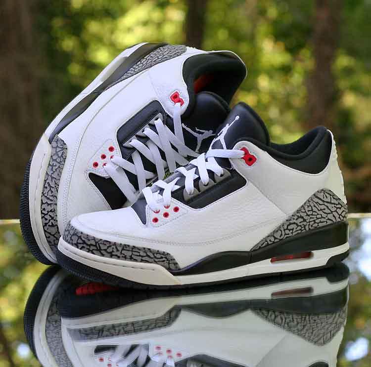 sports shoes ea330 724c3 Air Jordan 3 Retro Infrared 23 White Black Cement Grey 136 ...