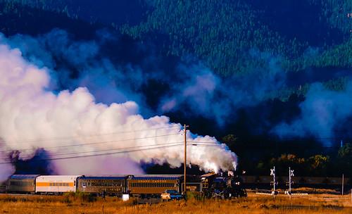 colors coconino county arizona atsf art landscape locomotive steam railroad route66 williams
