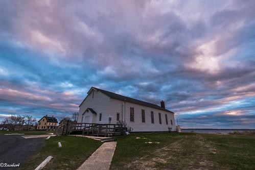 una casa cielo un jardin en el mar puesta de sol sandy hook chapel fort hancock la mer