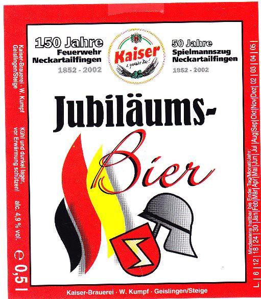 Germany - Kaiser-Brauerei W. Kumpf (Geislingen)