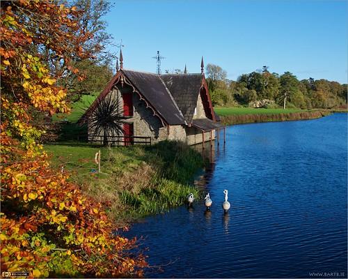 autumn ireland sculpture art modernart boathouse maynooth kildare localhistory historicbuilding cartonestate
