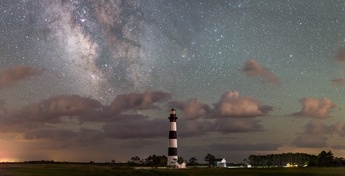 Bodie Island Lighthouse, Cloudy Milky Way | by Notquitesure
