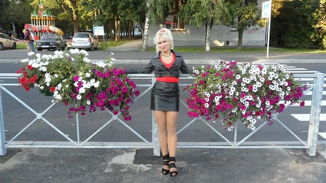 Blonde Mature  Skirt