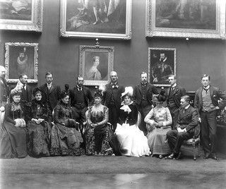 Hat trick  -  Royal visitors in the Picture Gallery, Kilkenny Castle | by National Library of Ireland on The Commons